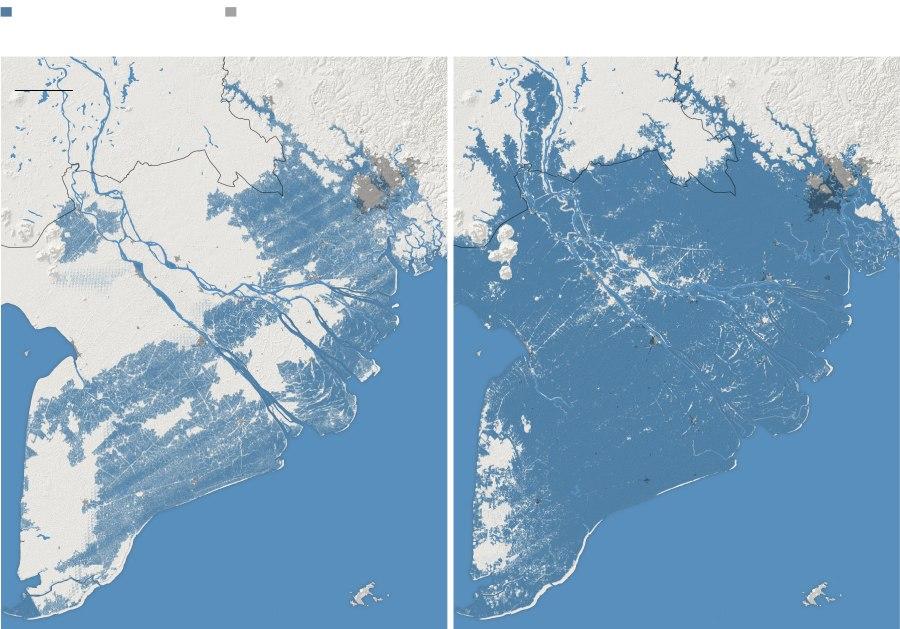 Mực nước biển dâng cao sẽ xóa sổ miền nam Việt Nam vào năm2050