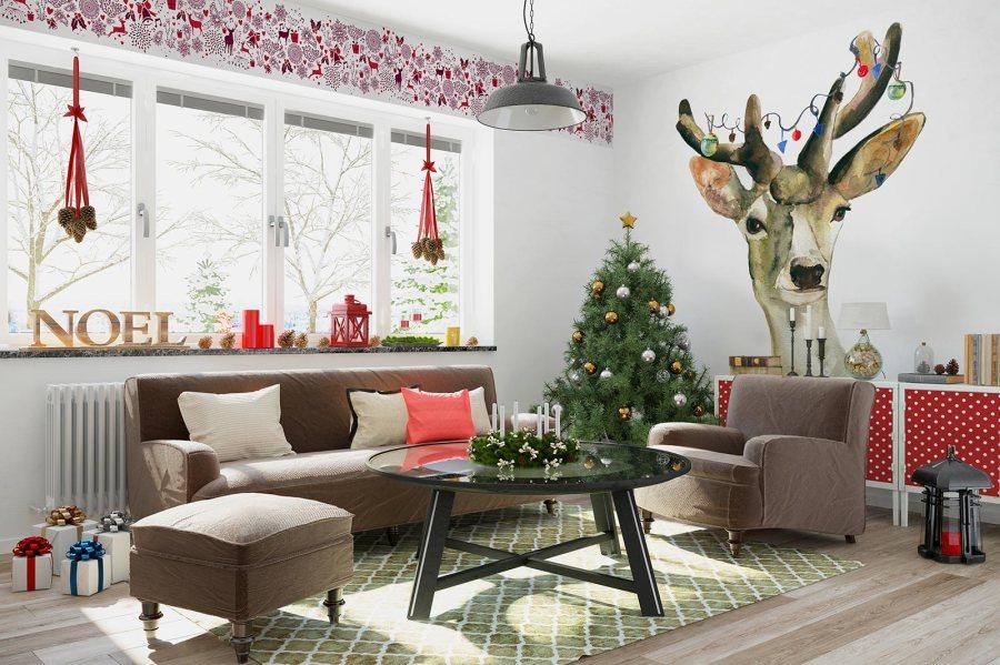 Trang trí Giáng Sinh cho bức tường nhàbạn