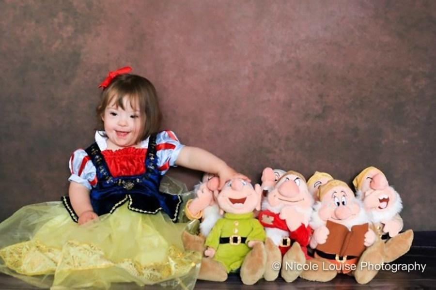 """Bộ ảnh """"Hội chứng Down với Disney"""": vẻ đẹp từ những đứa trẻ bịDown"""